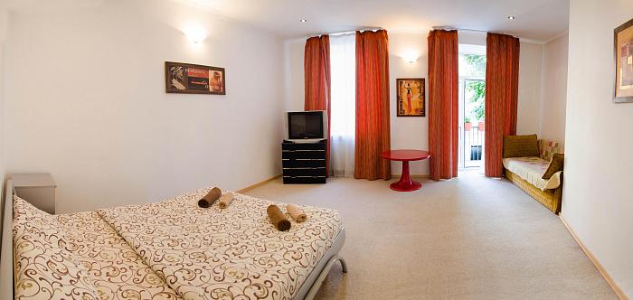 1-комнатная квартира посуточно в Львове. Лычаковский район, ул. Туган-Барановского, 8А. Фото 1